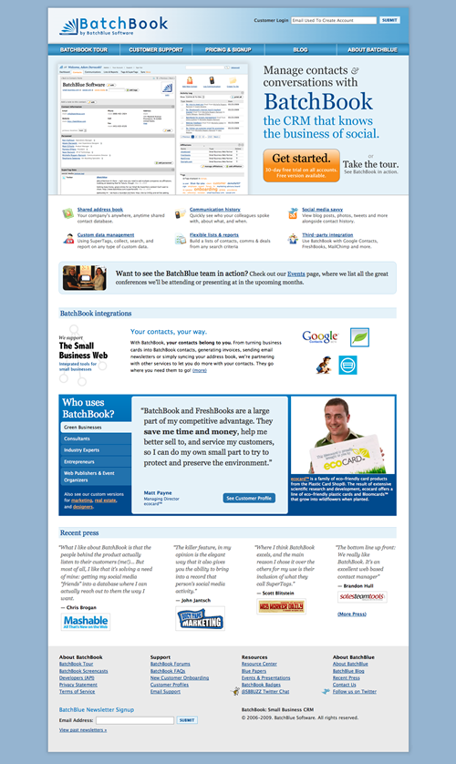BatchBlue.com screenshot