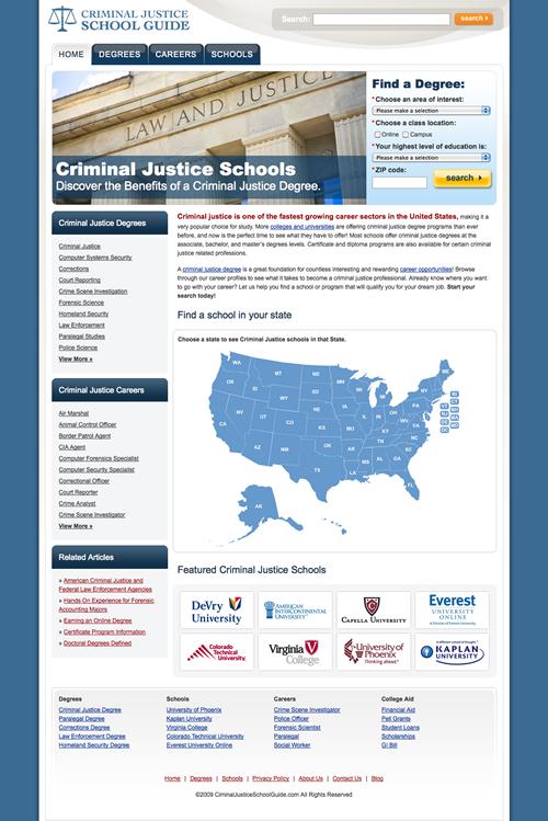 Criminal Justice School Guide screenshot