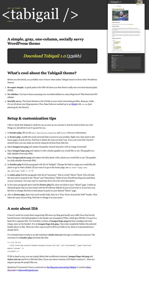 Tabigail screenshot